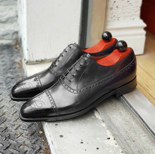 leather404 Clothing, Shoes & Accessories:Men's Shoes:Dress Shoes Black Oxfords Dress Shoes