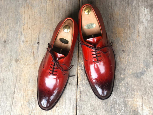 leather404 Clothing, Shoes & Accessories:Men's Shoes:Dress Shoes Brown Leather Brogue Shoes for Men's