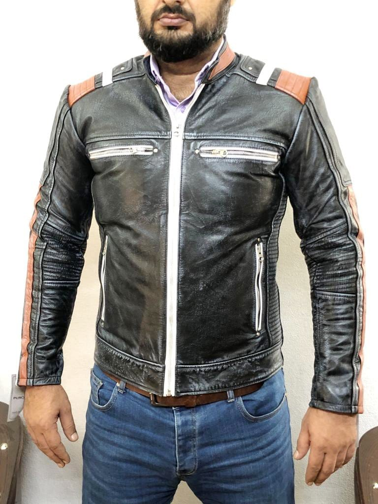 leather404 Clothing, Shoes & Accessories:Men's Clothing:Coats & Jackets Cafe racer Leather Jackets