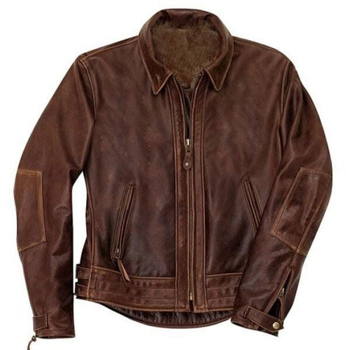 leather404 Clothing, Shoes & Accessories:Men's Clothing:Coats & Jackets s Handmade Brown Color Antique Leather Jacket For Men's