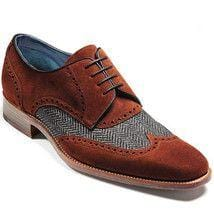 leather404 Clothing, Shoes & Accessories:Men's Shoes:Dress Shoes Handmade Suede Tweed Brown Gray Shoes