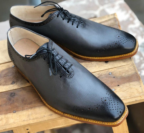 leather404 Clothing, Shoes & Accessories:Men's Shoes:Dress Shoes Men's Handmade Gray Brogue Leather Casual Shoes