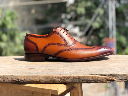 leather404 Clothing, Shoes & Accessories:Men's Shoes:Dress Shoes Handmade Mens Light Brown Dress shoes