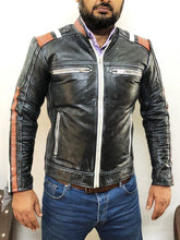 leather404 Clothing, Shoes & Accessories:Men's Clothing:Coats & Jackets Men's Retro Cafe Racer Vintage Distressed Leather Jackets