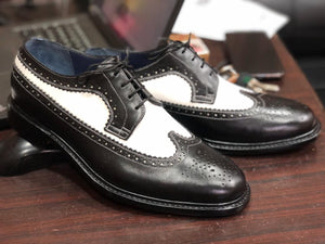 shoes casual two tone dress shoes casual dress shoes shoes dress Black & White wing tip shoes Lace up shoes Stylish shoes brogue boots Men's leatBespoke shoes Designer shoes her shoes Handmade shoes Black & White  Shoes party shoes shoes oxfords Ttone shoes Mens Dress Shoes Black & White shoes Handmade shoes Lace up shoes brogue shoes