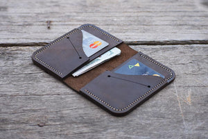 leather404 wallet Handmade Minimal PERSONALIZED Leather WALLET, Men Bi-Fold Pocket Wallet, Card Holder, Gift Wallet, Hand Stitched Gift  - Listing  # 2013