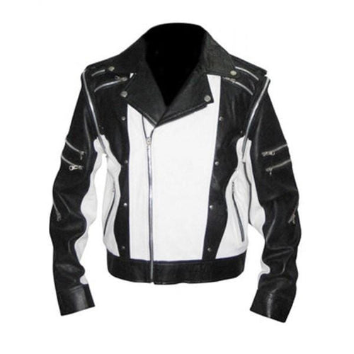 leather404 Clothing, Shoes & Accessories:Men's Clothing:Coats & Jackets s Men's Black White color BMW Motorcycle Racing Biker Leather Jacket