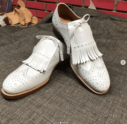 leather404 Clothing, Shoes & Accessories:Men's Shoes:Dress Shoes men's White Color Leather Fringe Shoes Men Dress Formal Wing Tip Brogue Shoes