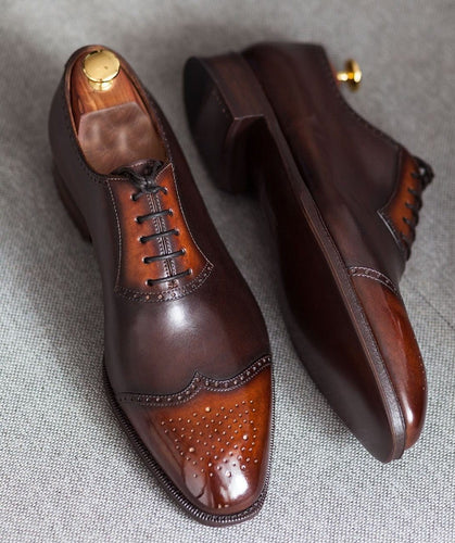 leather404 Clothing, Shoes & Accessories:Men's Shoes:Dress Shoes Brown Leather Dress Shoes