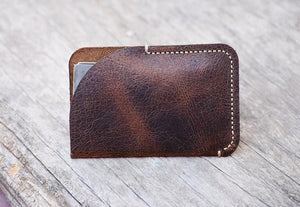 leather404 wallet personalize Minimal Hand Stitched Card Holder, LEATHER CARDHOLDER, Groom Gift, Men Wallet, Fathers Day Gift # 2004