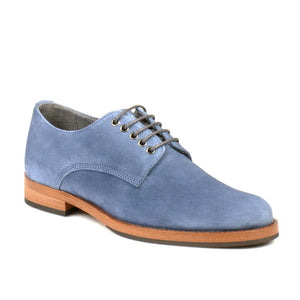 leather404 Clothing, Shoes & Accessories:Men's Shoes:Dress Shoes Handmade Blue Suede Lace Up Shoes Foe Men's