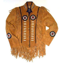 leather404 Clothing, Shoes & Accessories:Men's Clothing:Coats & Jackets s Men's Suede Fringe Jacket Tan Color Cow Hide Stylish Suede Jacket