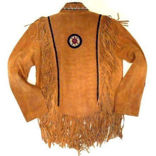leather404 Clothing, Shoes & Accessories:Men's Clothing:Coats & Jackets Men's Suede Fringe Jacket Tan Color Cow Hide Stylish Suede Jacket