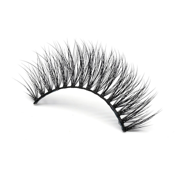 Citrine 3D silk fake eyelash by thrifty lashes cruelty free eyelashes