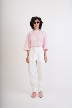 White piquee pants