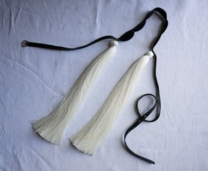 Black belt with silk tassels
