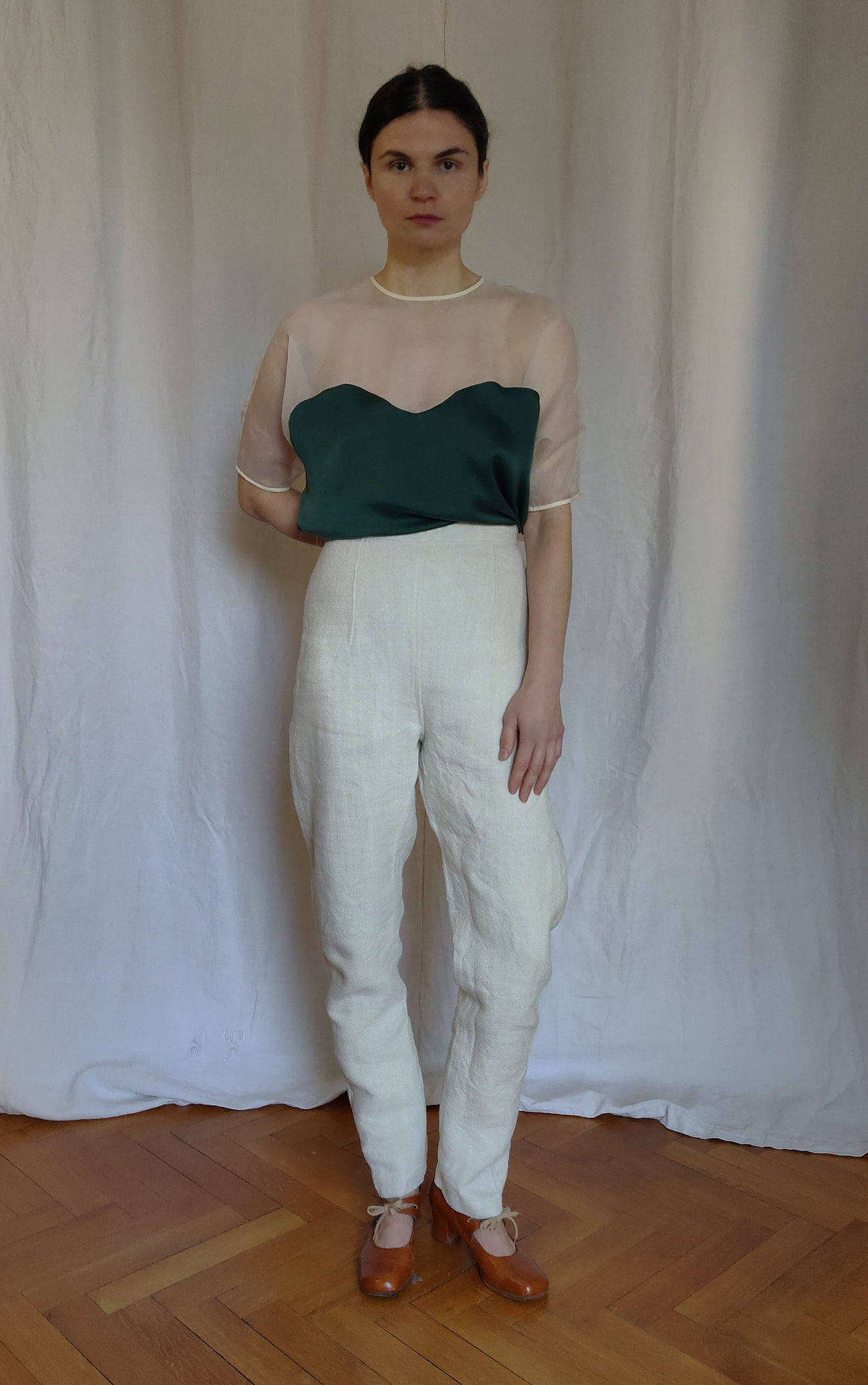 High-rise waist pencil trousers