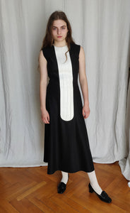 """A"" plastron dress"