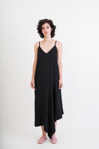 Asymetric slip dress