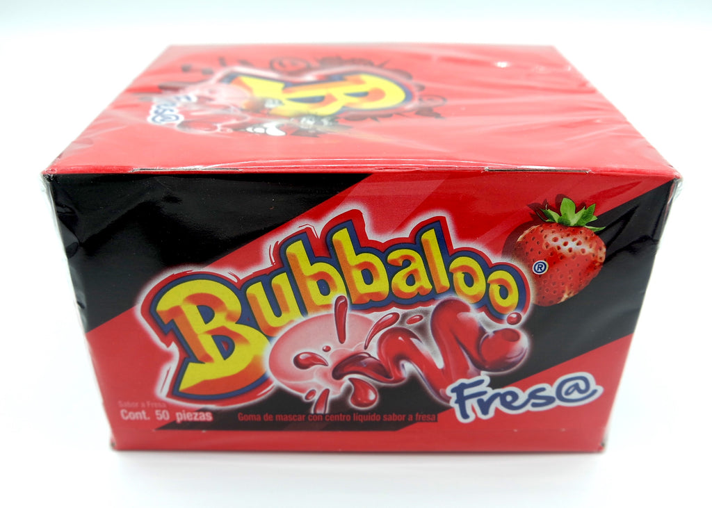 Bubbaloo Fresa Bubble Gum 50 ct Mexican Gum - Helados La Azteca