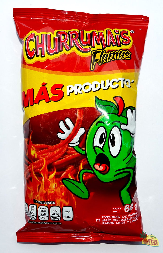 Churrumais Xtra Flamin Hot 55g | Crunchy Spicy Thin Mexican Chips - Helados La Azteca