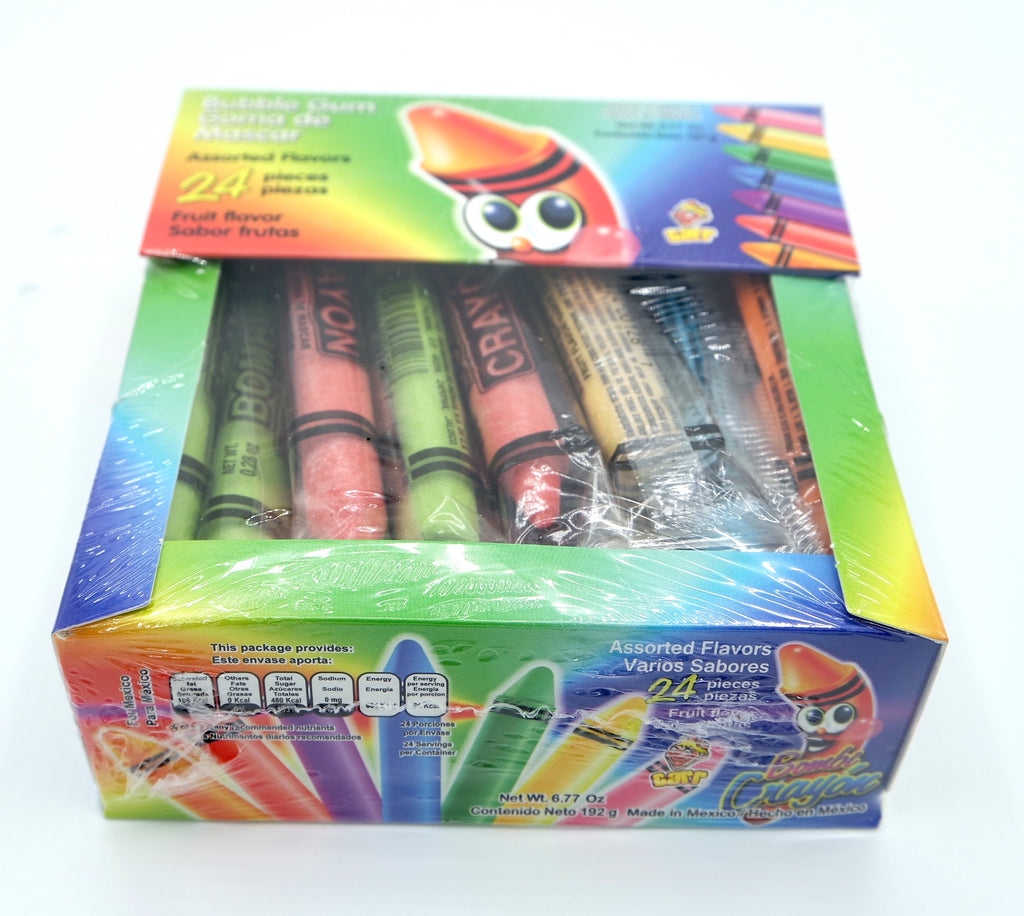 Bombi Crayon Bubble Gum 24 ct Mexican Candy - Sol Dias