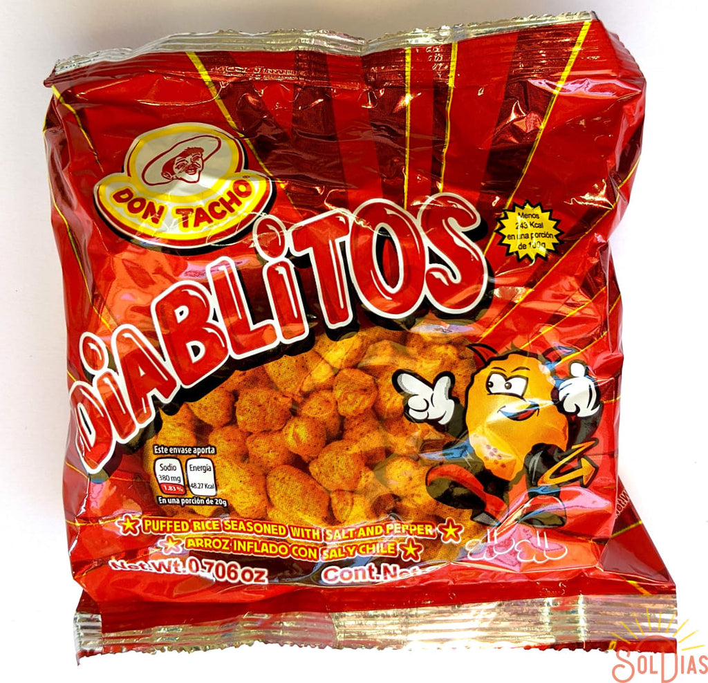 Don Tacho Diablitos 200g | Spicy Puffed Rice Snack - Helados La Azteca