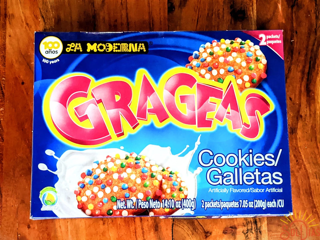 La Moderna Grageas Galletas 400g| Mexican Sugar Cookies with Sprinkles - Sol Dias