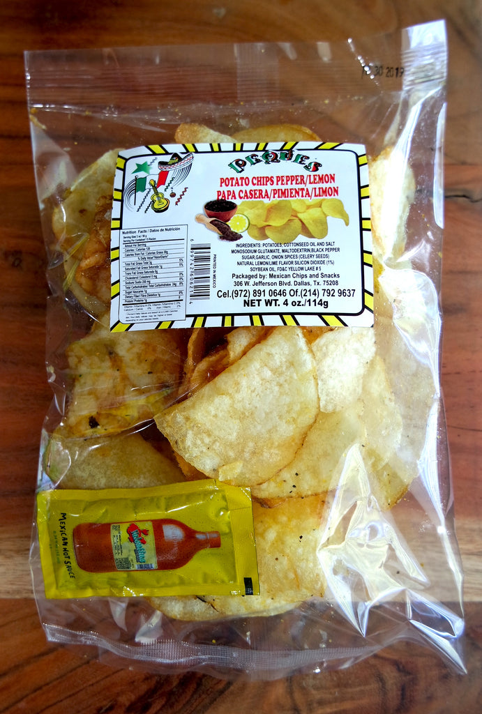 Papas Caseras, Mexican Kettle Chips 4 oz - Sol Dias