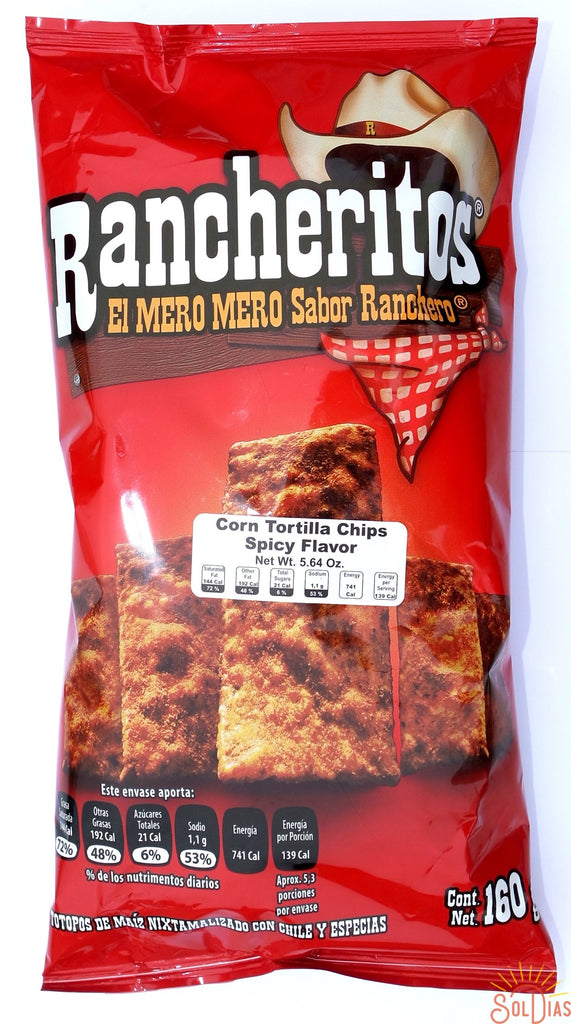 Sabritas Rancheritos 145g | Thin Spicy Mexican Chips - Sol Dias