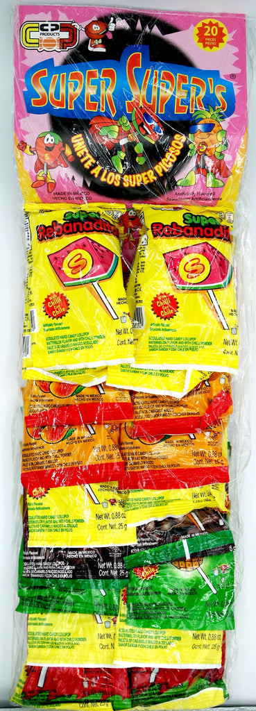 Super Rebanaditas Mix Paleta 20 ct Mexican Candy - Helados La Azteca
