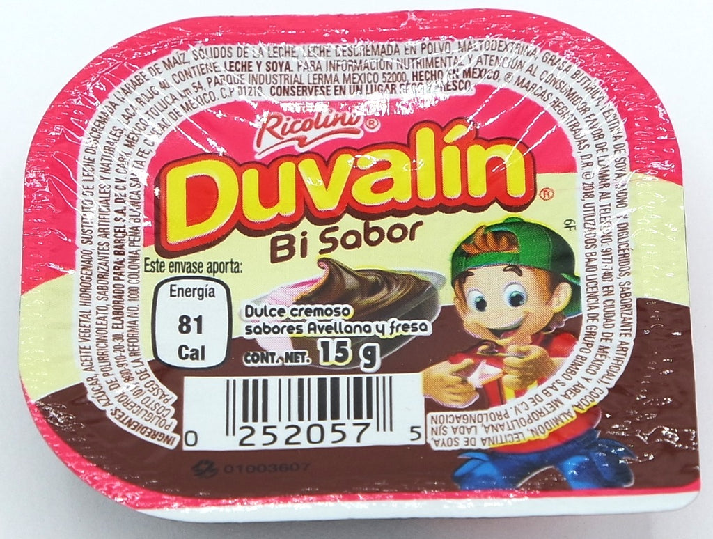 Ricolino Duvalin Havelnut Strawberry 18 ct Mexican Candy - Helados La Azteca