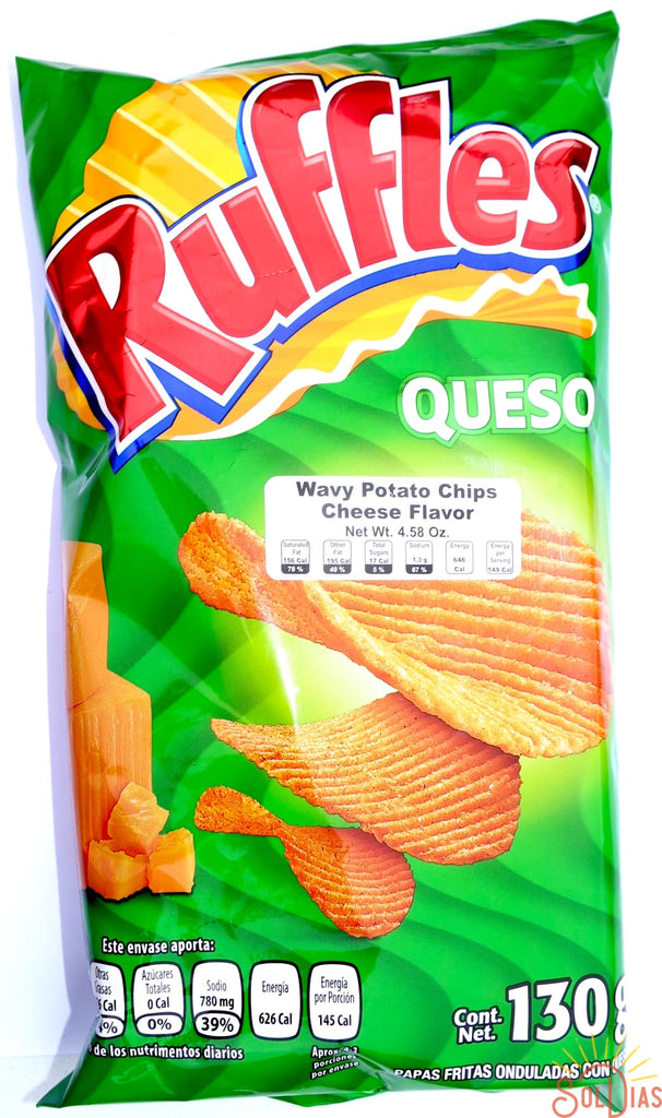 Ruffles Queso 130g | Cheddar Cheese Mexican Chips - Helados La Azteca