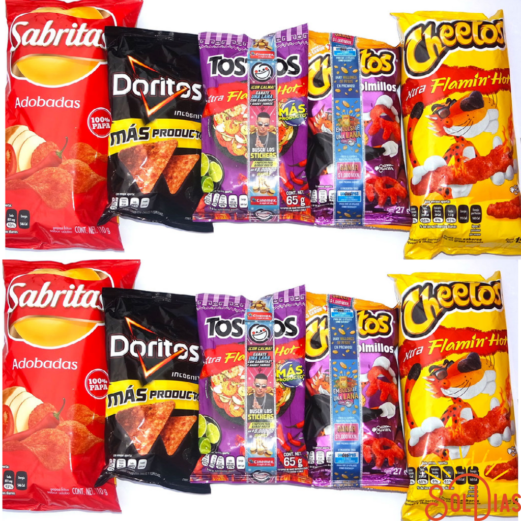 Ultra Spicy Mexican Chips Combo - Sol Dias