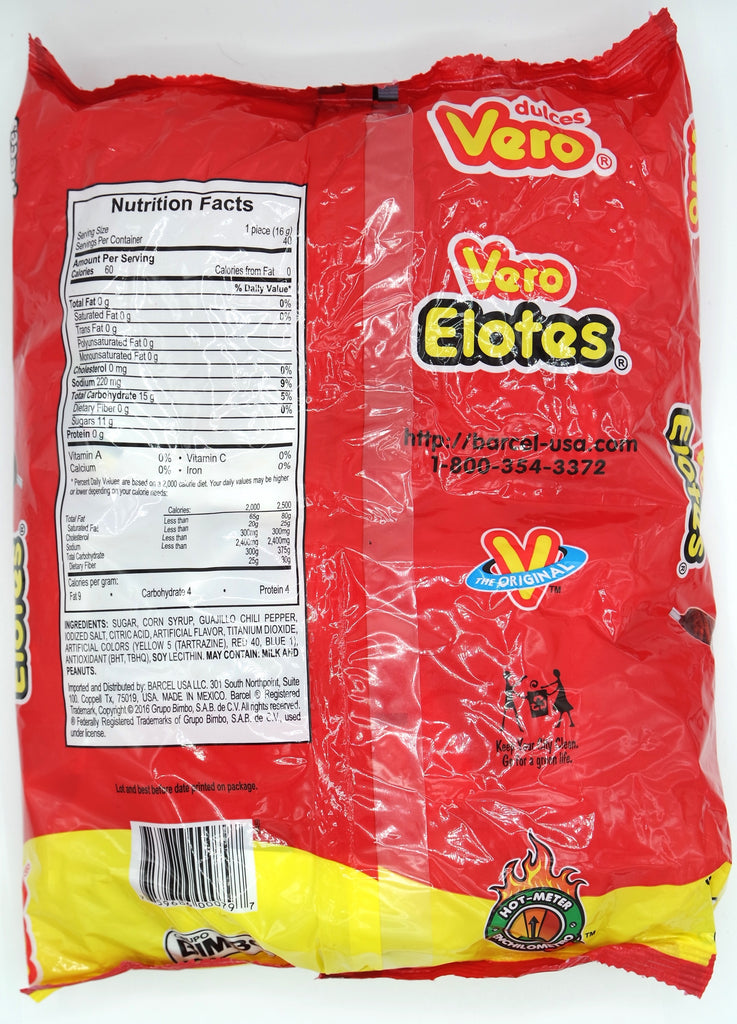 Vero Elote 🌽 Paleta 40 ct | Hard Spicy Mexican Lollipop - Helados La Azteca