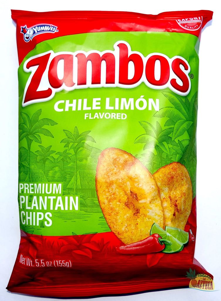 Zambos Chile Limon 5.5oz | Crunchy Spicy Plantain Chips - Sol Dias