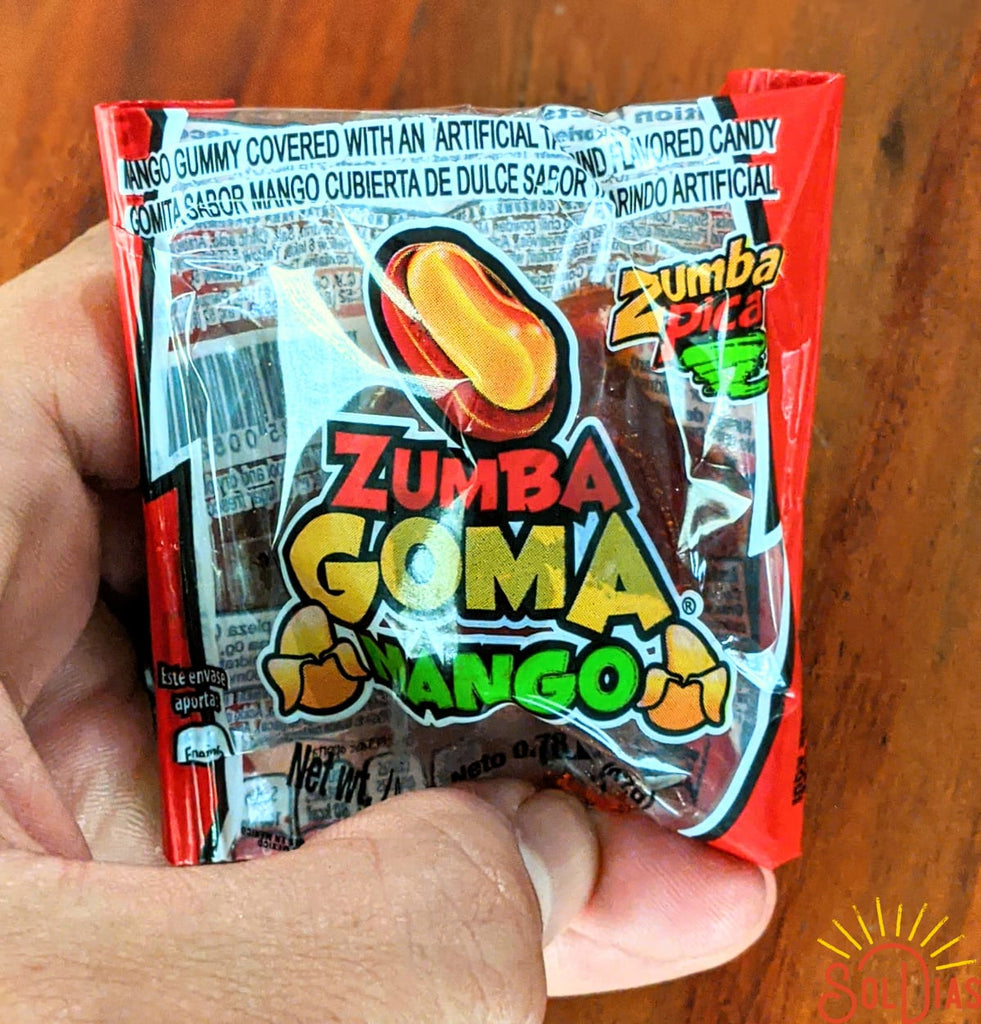 Zumba Goma Mango 20ct, 15.5oz | Mexican Candy