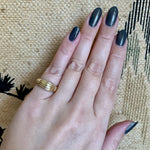 Ribbed Dome Ring 14k