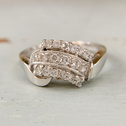 ArtCarved Diamond Cluster Ring 14k