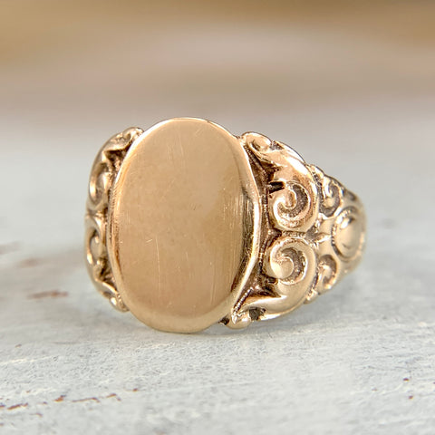 RESERVED-JR Wood and Sons Signet Ring 10k