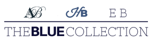 Alice Blue, Hanover Blue, and Electric Blue - The Blue Collection Logo