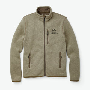 Filson Men's Ridgeway Fleece Ducks Unlimited Jacket in Vintage Olive