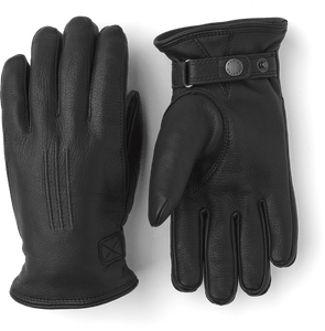 Hestra Deerskin Lambsfur Lined Men's Gloves (Black)