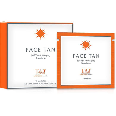TanTowel Self Tan Anti Aging Towelettes for Face