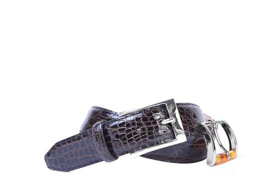 Martin Dingman Wallace Crocodile Belt