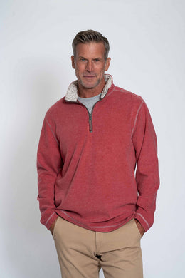 True Grit Melange Soft Fleece 1/4 Zip Pullover (Spice)