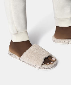 Dolce Vita Mochi Slippers (Off White Plush)
