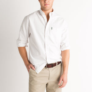 Duck Head Oxford Button Down Shirt (White)