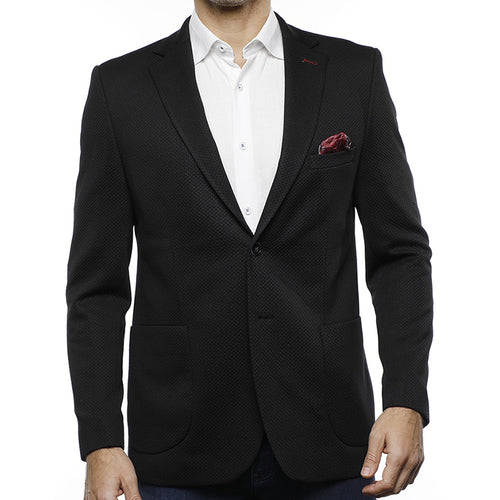 Luchiano Visconti Black Jacquard Sport Coat