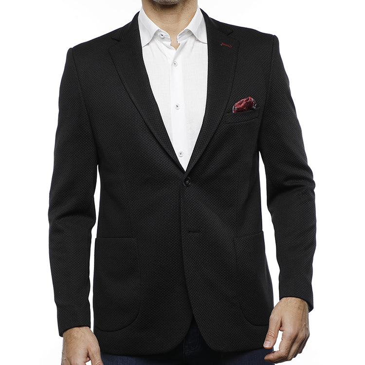 Luchiano Visconti Jacquard Sport Coat (Black)